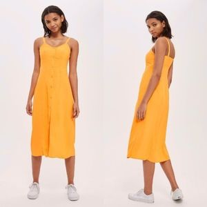 NEW TOPSHOP Marigold Corset Detail MIDI Slip DRESS